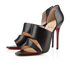 Christian Louboutin Womens martissimo black leather Sandals