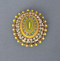 Vintage Schreiner Brooch Pendant