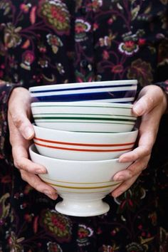 Striped Au Lait Bowl