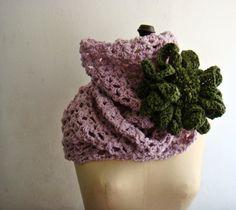 PDF PATTERN Lace Crochet Cowl Infinity Scarf by PATTERNSbyFAIMA