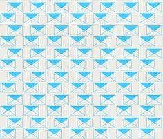 Envelop Envelopes in Sky fabric by pennydog on Spoonflower - custom fabric