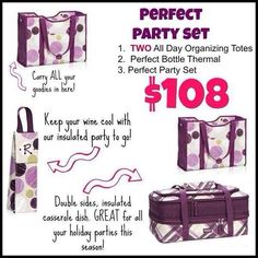 Thirty-One Gifts Fall 2014 Perfect Party Set