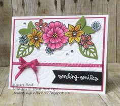 Falling Flowers, Stampin' Up!, Petal Burst Embossing Folder, What Will You Stamp?, WWYS, stampinginferno.blogspot.com