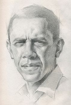 Barack Obama, 44th President of the United States, pencil portrait drawing. #loveart