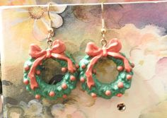 Vintage Jewelry Wreath Earrings by DLSpecialties on Etsy