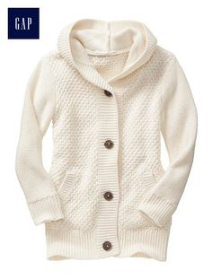 Factory chunky hooded cardigan