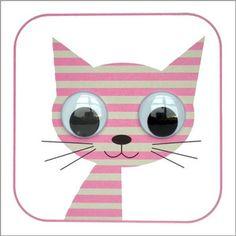 Stripey Cats handmade cards