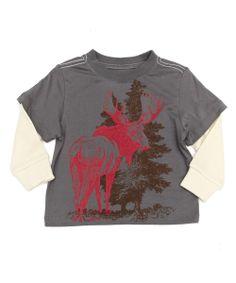 Baby 2 In 1 Moose Tee | Peek Kids Clothing