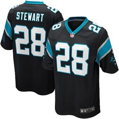 Panthers 28 Jonathan Stewart Nike Game Jersey Home Black Team Color 0e4925581