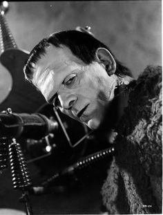 Boris Karloff as Frankenstein!