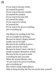 22 Tao Te Ching - Lao Tse (Lao Tzu)