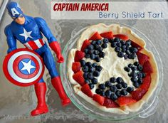 Check out our #recipe for the Captain America Berry Shield Tart!  Marvel's Captain America: The Winter Soldier hits theaters this April! Who else is excited to see this film come to the big screen? We sure are!  #CaptainAmerica