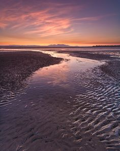 Sand Patterns At Troon Beach, Ayrshire, Scotland