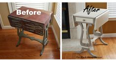 The Black Sheep Shoppe: Vintage Chicago Side Table. Painted in Coco and Old Ochre (Annie Sloan Chalk Paint).