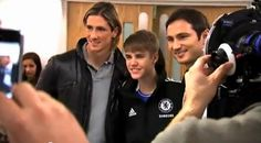 The Biebs, Fernando Torres, & Frank Lampard. OMG!  @Bridgette, this is the end all be all for me!