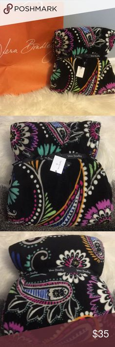 "Vera Bradley blanket NWT 80"" x 50"" no trades bandana swirl pattern, super comfy and soft, great for yourself or a gift Vera Bradley Other"