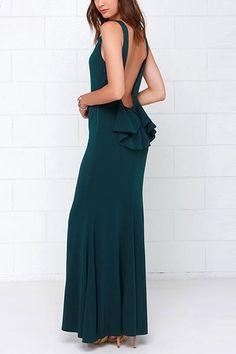 Sleeveless Backless Pleated Maxi Dress - US$33.95 -YOINS