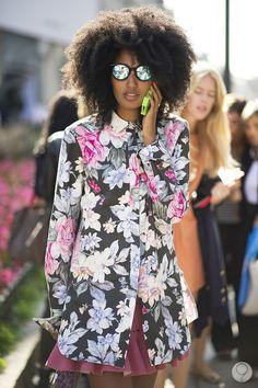 floral jacket solid peplum plum skirt...lovely.
