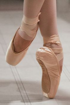 I love pointe shoes in relevé!