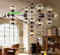 21 Light Modern MODO LED Glass Ball Chandelier Ceiling Light Lobby Pendant Lamp