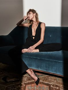 """""""The Business Model"""" / Anja Rubik photographed by Chris Colls and styled by Morgan Pilcher / The Edit June 2016"""