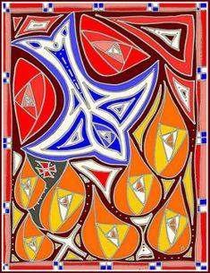 pentecost artwork - Google Search Pentecost, Spiderman, Superhero, History, Google Search, Abstract, Artwork, Fictional Characters, Spider Man