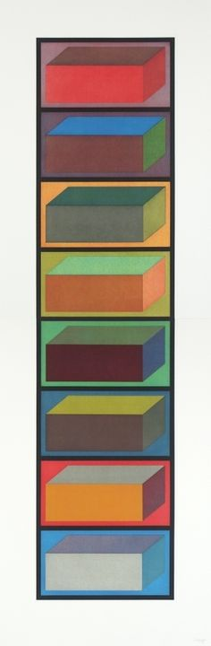 Eight cubic rectangles (Diptych) | Sol LeWitt, Eight cubic rectangles (Diptych) (1995)