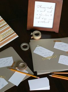 """Wedding Memory Album for guests,instead of signature do """"Notes with Tape"""" (washi tape)"""
