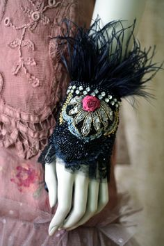 Regal affair bold ornate wrist wrap with antique by FleursBoheme, based in Estonia and sellingon Etsy