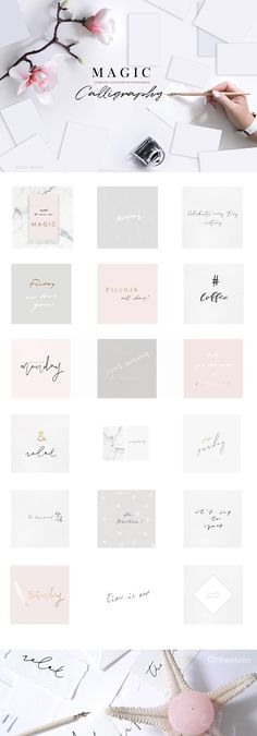 ANIMATED HANDWRITTEN QUOTES  by OntheMoon on @creativemarket