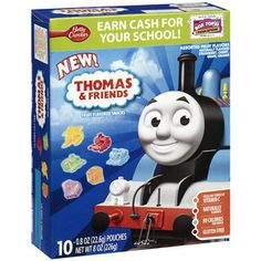 For Goody Bags: Betty Crocker Thomas & Friends Assorted Fruit Flavored Snacks Thomas Birthday Parties, Thomas The Train Birthday Party, Trains Birthday Party, Twin Birthday, Friend Birthday, Birthday Fun, Birthday Ideas, Birthday Shirts, Train Party Favors