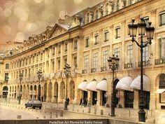 """Paris Photography - Spring Paris Architecture, Dreamy Paris Decor, Street Lamps, Paris Fine Art Photograph 6"""" x 8"""""""