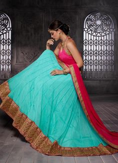 Customary Net Turquoise A Line Lehenga Choli