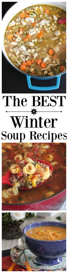 Sharing The BEST Winter Soup Recipes with you today! I've collected a bunch of my favorite Picky Palate soup recipes that are perfect for cold months, hope you enjoy!