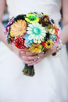 Oh ma gosh! This is totally made out of vintage flower pins!