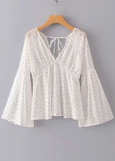 womens tops on sale Casual Tops For Women, Trendy Tops, Blouses For Women, Bell Sleeve Blouse, Bell Sleeves, Bell Sleeve Top, Dress Up Outfits, Fashion Outfits, Short Frocks