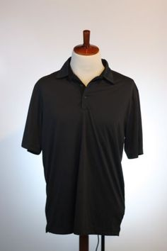 Men-OFFICIAL-Greg-Norman-Play-Dry-Golf-Short-Sleeve-Polo-Shirt-Large