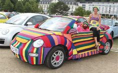 1308 Knitted Volkswagen Beetle 2013 Sunshine Tour