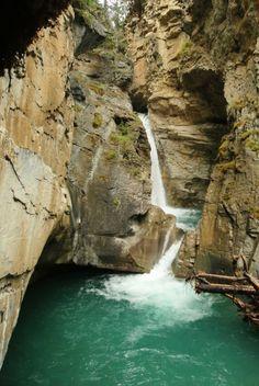 Johnston Canyon, Alberta Johnston Canyon, Water, Travel, Outdoor, Water Water, Outdoors, Aqua, Viajes, Traveling