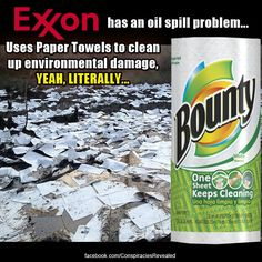 The Arkansas oil spill is being cleaned up by paper towels. Seriously? http://www.myfivebest.com