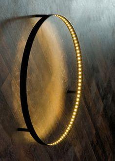 Applique Curves / LED - Ø 60 cm Noir Ø 60 cm - Le Deun - Décoration et mobilier design avec Made in Design