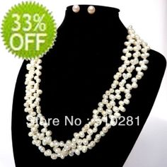 # 2075 Fashion natural freshwater pearl necklace $38.42