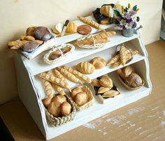 Miniature Food - Bakery Display by PetitPlat - Stephanie Kilgast, via Flickr
