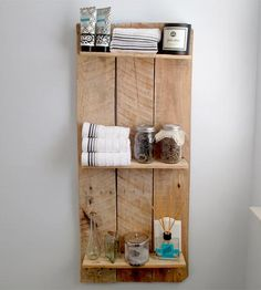 Similar shelf in bathroom? Reclaimed Wood Shelving Unit by Weathered Aldie on Scoutmob Shoppe Reclaimed Wood Shelves, Reclaimed Wood Projects, Home Projects, Home Crafts, Do It Yourself Decoration, Wood Shelving Units, Barn Wood, Home Furniture, Design