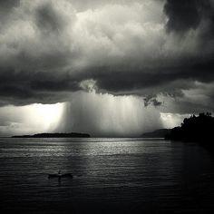 """""""Waterfall."""" Tropical storm, Banda Neira. Photo by Hengki Koentjoro."""