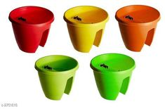 Artificial Flowers and Plants Railing Pots & Planter, Flower Pots Material : Plastic Size (H x W x D): 12 in x 12 in x 11 in  Description : It Has 5 Pieces Of  Railing Pots & Planter, Flower Pots Sizes Available: Free Size *Proof of Safe Delivery! Click to know on Safety Standards of Delivery Partners- https://ltl.sh/y_nZrAV3  Catalog Rating: ★4.2 (3033)  Catalog Name: Trendy Lovely Flower Pots Vol 2 CatalogID_372993 C127-SC1610 Code: 268-2751818-