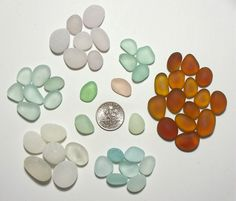 Jelly Beans assorted sizes (50+) Pink Sea foam Lavender etc Jewelry Quality Genuine Beach Sea Glass from Ft Bragg (A7) - pinned by pin4etsy.com