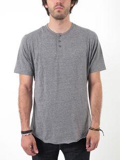 The Berkeley is a 150-gram 60% cotton/ 40% polyester short sleeve three-button Henley.