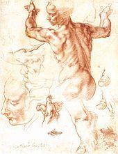 Drawing for The Libyan Sybil, New York City, Metropolitan Museum of Art