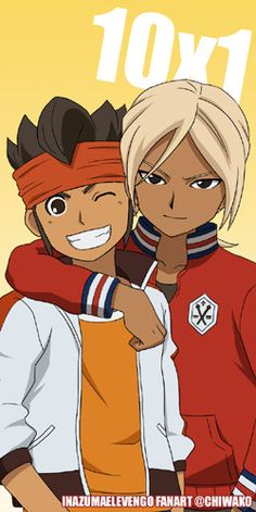 Even if they grow up, they're still good friends. Endou & Gouenji - Inazuma Eleven ~ DarksideAnime